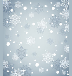 winter holiday background with snow new year vector image