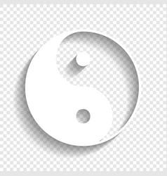 Ying yang symbol of harmony and balance vector