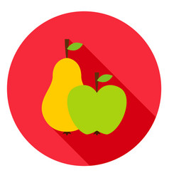 fruits circle icon vector image vector image