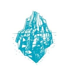 Iceberg Hand Draw Sketch vector image