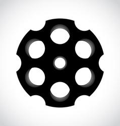 Revolver drum vector image vector image