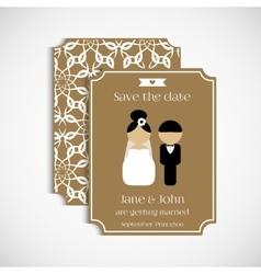 Set of floral vintage wedding cards Wedding vector image