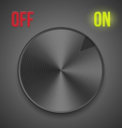 Turn button vector image vector image