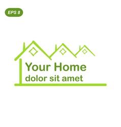 Your green home logo conception vector image