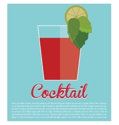 cocktail bloddy mary traditional icon vector image