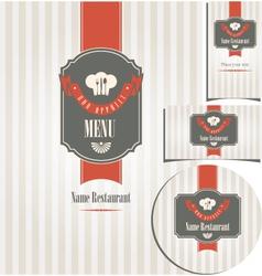 design style restaurant vector image vector image