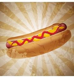 Realistic hot dog vector image