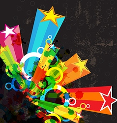 Star festival grunge background vector