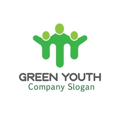 Youth green design vector