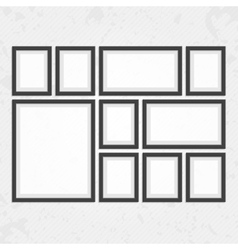 Modern black frames set vector image