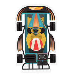 Top view kart racer isolated icon vector
