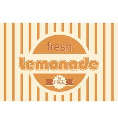retro lemonade background design vector image vector image