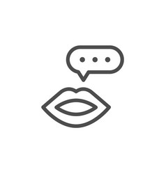 talk line icon vector image