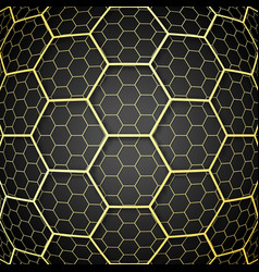 abstract background with golden cells design for vector image