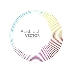 Abstract round banner colorful lines with vector image