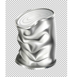 Aluminum can in bad condition vector