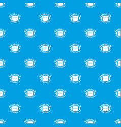 american football pattern seamless blue vector image