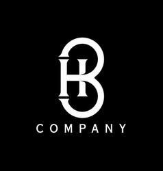 B h initial logo design inspirations vector