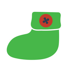 baby bootie icon vector image