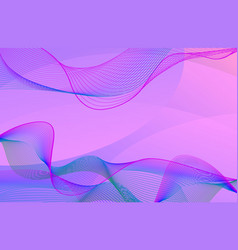 Background template design with pink wavy lines vector
