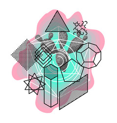 Background with abstract geometric shapes and vector