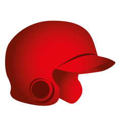 baseball helmet isolated icon vector image