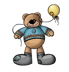 Bear with a ball vector