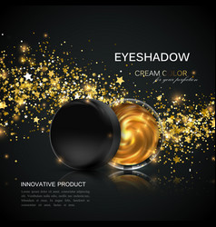 beauty eye shadows or cheek blush ad vector image