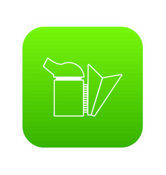 beehive smoker icon green vector image