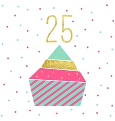 Birthday Cupcake Card vector image