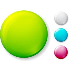 Blank badge on white vector image