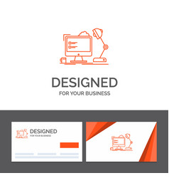 business logo template for workplace workstation vector image