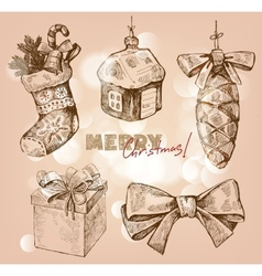 Christmas and happy new year vector
