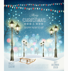 Christmas holiday party flyer background vector