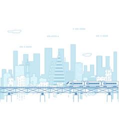 city real estate urban landscape background flat vector image