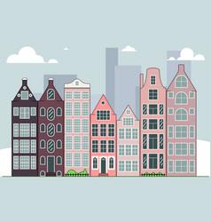 city skyline daytime vector image