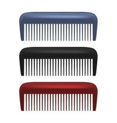 Colorful Combs isolated on white background vector