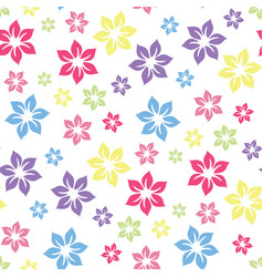 colourful summery floral pattern vector image