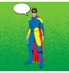Comic superhero vector