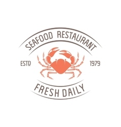 crab badge vector image