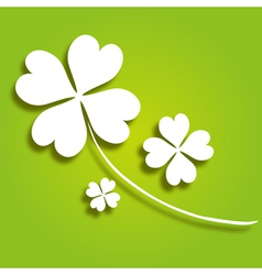 decorative clover vector image