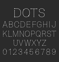 dots alphabet font template set letters and vector image