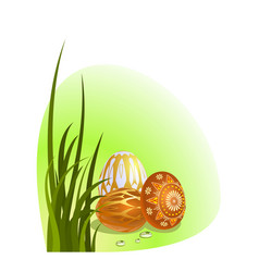 Easter eggs with ornament vector