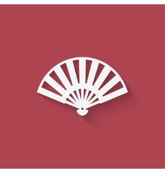 Fan design element vector