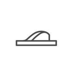flip flop line icon vector image