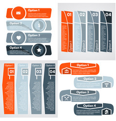 four step by step infographic design template vector image