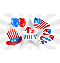 Fourth july independence day banner american vector