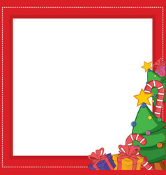 frame for chritsmas theme design vector image