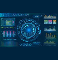 futuristic hud design elements infographic or vector image