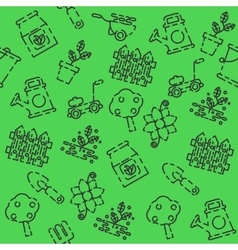 Garden set pattern vector
